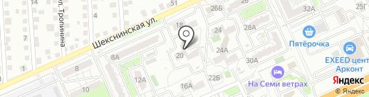 Волгоградский медицинский колледж на карте Волгограда