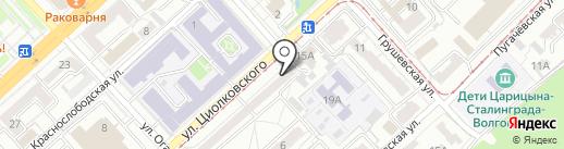 Каскад на карте Волгограда