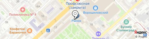 Волгоградский мясокомбинат на карте Волгограда