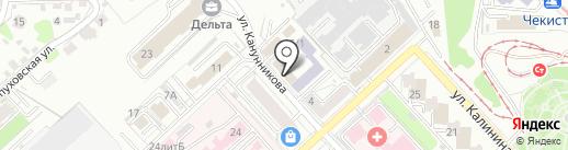 Серозак на карте Волгограда