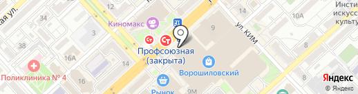 Автофинанс на карте Волгограда