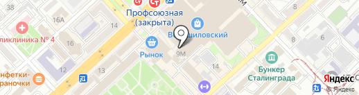 Фаджара на карте Волгограда
