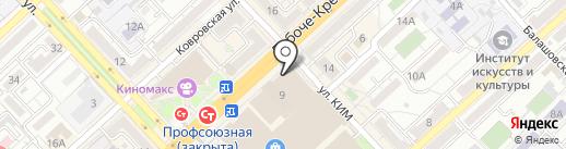 Руно на карте Волгограда