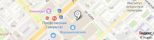 Царицынские пироги на карте Волгограда