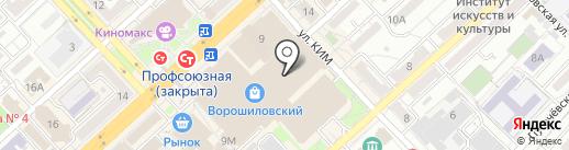 Тир на карте Волгограда