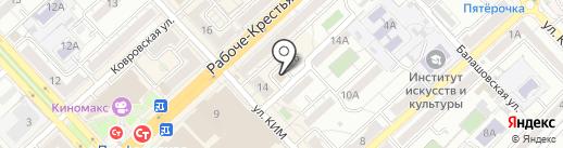 Студия красоты на карте Волгограда