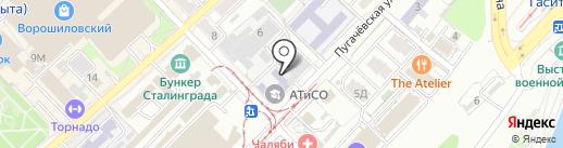 Ланч-Пойнт на карте Волгограда