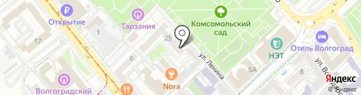 Комитет по строительству на карте Волгограда