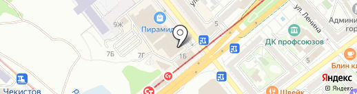 Петройл на карте Волгограда