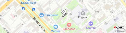 Сфера на карте Волгограда