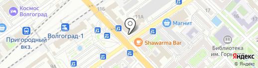 Ливиа-Моторс на карте Волгограда