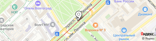 Завод монтажных заготовок на карте Волгограда