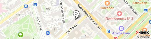 Фототекстиль на карте Волгограда