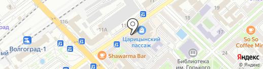 Константа на карте Волгограда