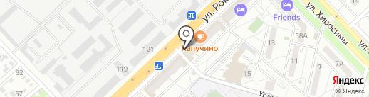 Каравай на карте Волгограда