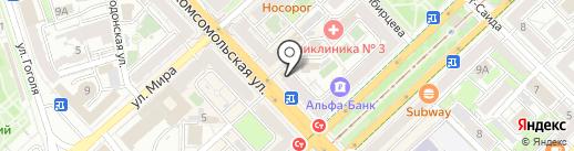 Бюрократ на карте Волгограда