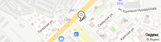 Кафе быстрого питания на карте Волгограда