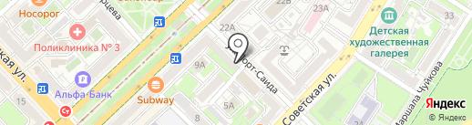 Магазин чулочно-носочных изделий на карте Волгограда
