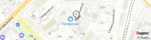 Волга на карте Волгограда
