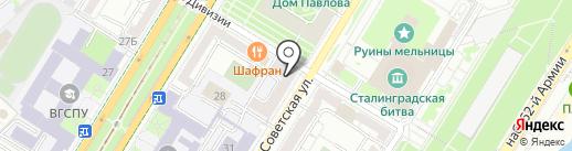 Волгоградский государственный технический университет на карте Волгограда
