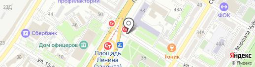 Магазин сувениров на карте Волгограда