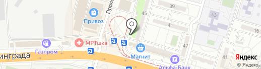 Мистер Пончик на карте Волгограда