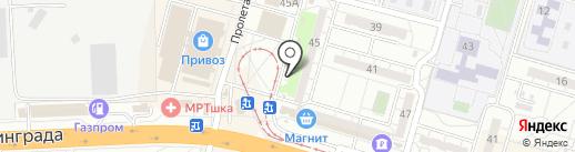 Магазин конфет на карте Волгограда