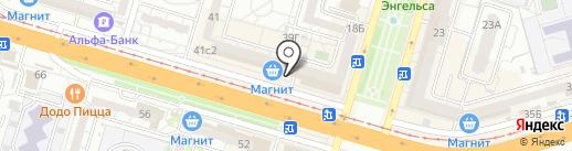 Магнит на карте Волгограда