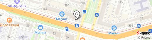 Услада на карте Волгограда