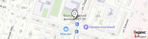 Столовая на карте Волгограда