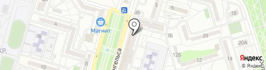 Валентина на карте Волгограда