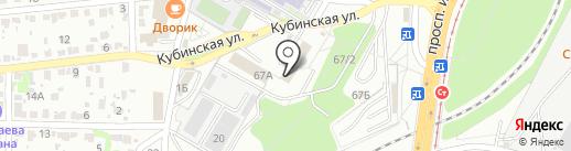 Феникс на карте Волгограда