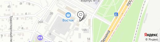 Магазин колбасных изделий и молочной продукции на карте Волгограда
