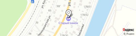 Старый замок на карте Волгограда