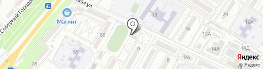 Стрела на карте Волгограда