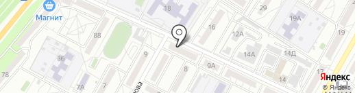 Паутинка на карте Волгограда