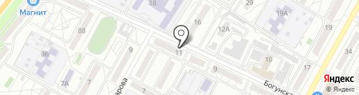 Киоск хлебобулочных изделий на карте Волгограда