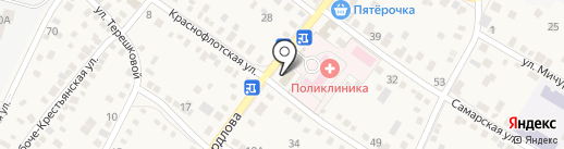 Лазурь на карте Краснослободска