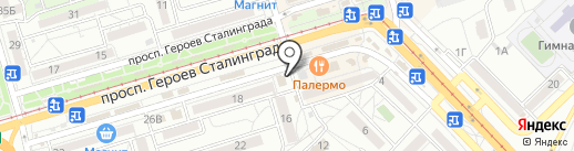 Магазин чая, кофе и табачной продукции на карте Волгограда
