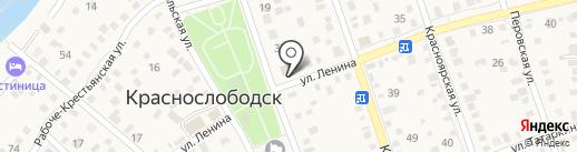 Кнопка на карте Краснослободска