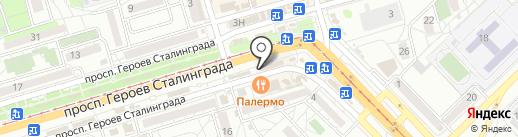 Яйца-Куры на карте Волгограда