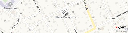 Краснослободская детская школа искусств на карте Краснослободска