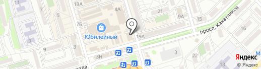 Киоск по продаже овощей и фруктов на карте Волгограда