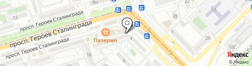 Ангел на карте Волгограда