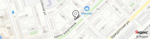 Магазин гжельского фарфора на карте Волгограда