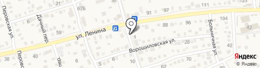 Кружка на карте Краснослободска