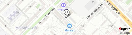 РЫБНЫЙ на карте Волгограда