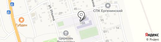 Большечапурниковская средняя общеобразовательная школа на карте Больших Чапурников