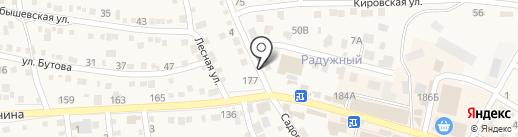 Сутяжник на карте Краснослободска