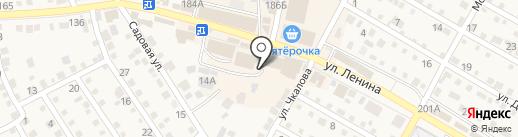 Магазин мяса на ул. Ленина на карте Краснослободска